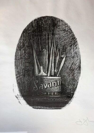 Jasper Johns, 'Savarian 4 (Oval)', 1978