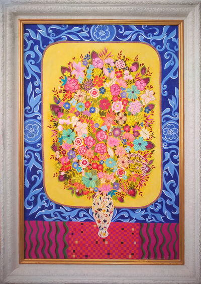 Hepzibah Swinford, 'Flowers in an Imari vase', 2018
