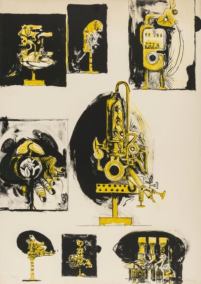 Graham Sutherland, 'Machines and Organic Forms (Tassi 100)', 1968