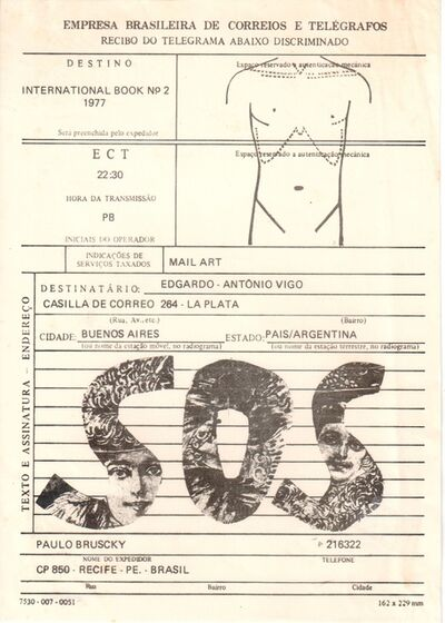 Paulo Bruscky, 'SOS', 1977