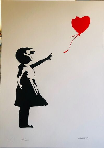 Banksy, 'Girl With Red Heart Balloon', 2002