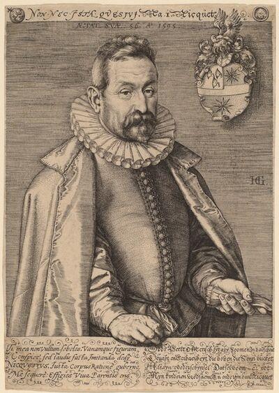 Hendrik Goltzius, 'Jan Nicquet', 1595