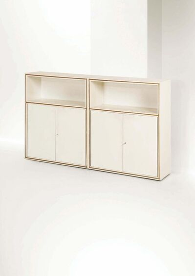 Attributed to Franco Albini, 'A pair of containers with a lacquered wood structure', 1940 ca.