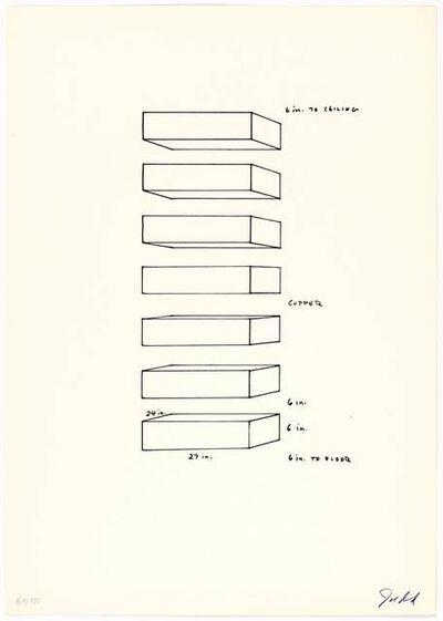 Donald Judd, 'Untitled', 1969