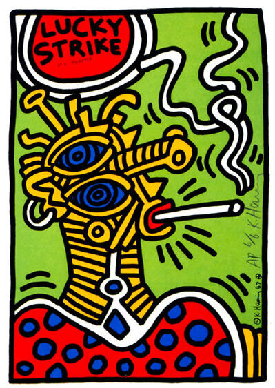 Keith Haring, 'Lucky strike (green)', 1987