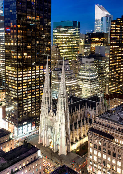 Andrew Prokos, 'St. Patrick's Cathedral and Midtown Skyscrapers', 2019