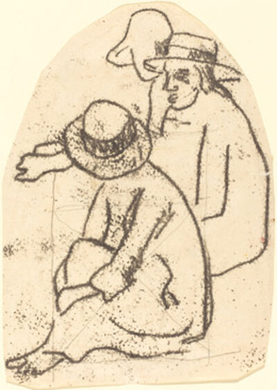"Paul Gauguin, 'Three Tahitians (Study for ""La soeur de charite"")', 1899/1902"