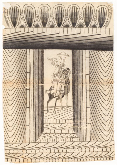 Martín Ramírez, 'Untitled (Caballero)', ca. 1953