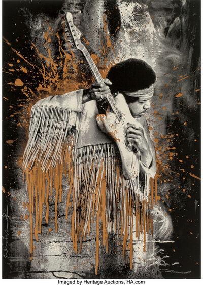 Mr. Brainwash, 'Jimi Hendrix (Gold)', 2015