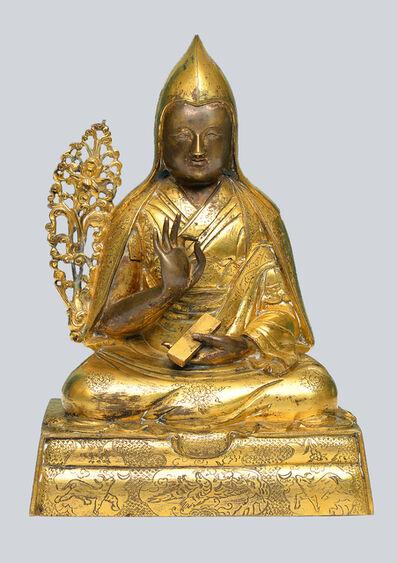Bronze Sculpture, 'A Gilt Bronze Figurine of 1st Dalai Lama, Gendun Drub, China, 17-18th Century, 16 cm.', 17-18