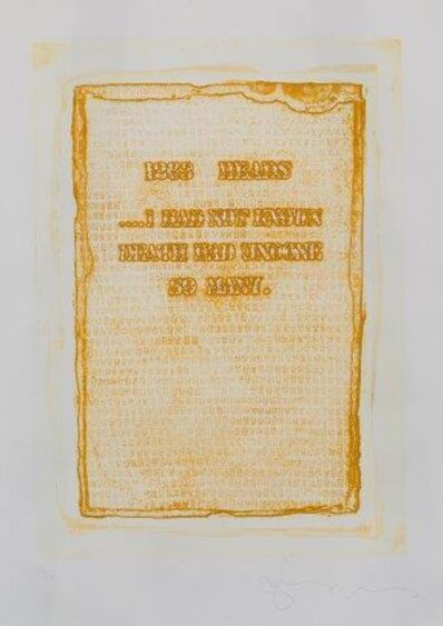Tom Phillips, '1263 Heads, I Had Not Known Death Had Undone So Many', 1976