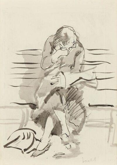 Isabel Bishop, 'Girl Reading the Newspaper', 1940