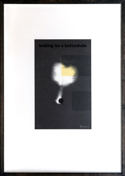 Georg Herold, 'Looking for a Buttonhole', 1987