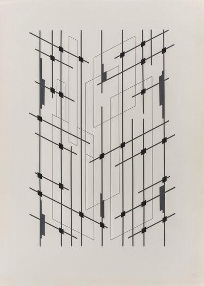 Aldo Galli, 'Tre tempi visivi di una interstruttura', 1979