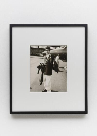 Andy Warhol, 'Jean-Michel Basquiat & private jet', 1983
