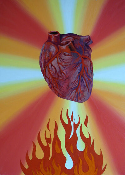 "Sergey Shutov, '""Heart on fire""', 2017"