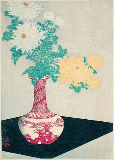 Hiroaki Takahashi (Shotei), 'Chrysanthemum in Red Vase', ca. ca. 1924-35