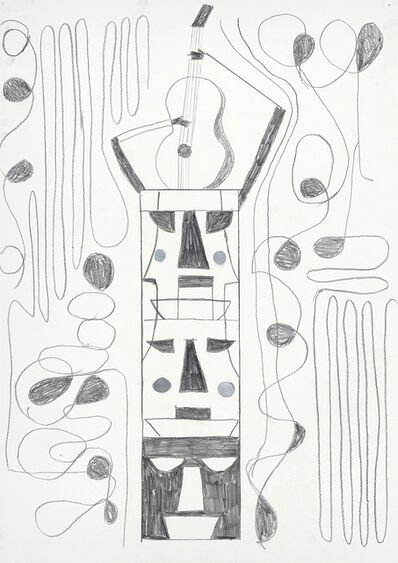 Dirk Zoete, 'Music and totem (after woodcut)', 2017