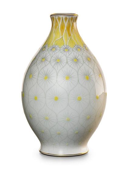 Sevres, 'Fine vase with stylized floral design, France', 4353