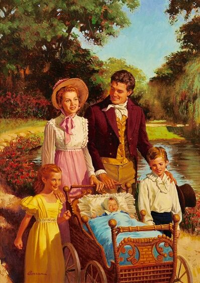 Robert Berran, 'Family Stroll'