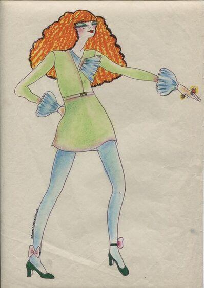 Delia Cancela, 'Chica peliroja y medias azules', 1967