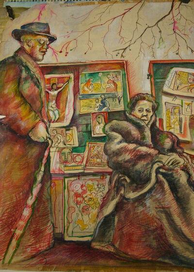 Dick Lubinsky, 'Man and Woman Selling Art', ca. 1960