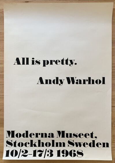 Andy Warhol, 'Original 1968 Silkscreen Exhibition Poster ', 1968