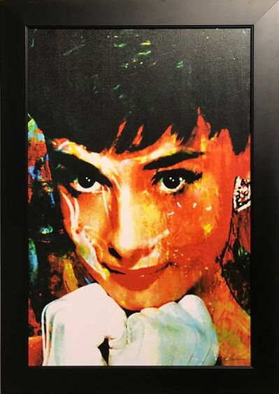 Mark Lewis, 'Limited Edition Giclee 'Tiffany Delight - Audrey Hepburn' Celebrity Pop Art, Famous People Artwork', 2017