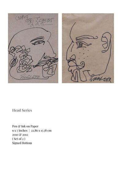 "Sunil Das, 'Head Series, Pen & Ink on Paper (Set of 2) by Modern Indian Artist ""In Stock""', 2010-2012"