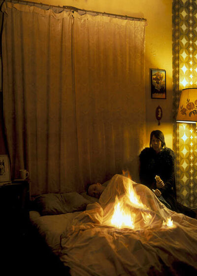 Tom Hunter, 'Lover set on Fire in Bed, from the series Headlines', 2003