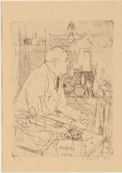 ALBERTO MANFREDI, 'Portrait of Giorgio Morandi in his Studio', 1958