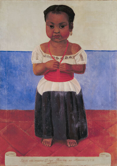Diego Rivera, 'Indian Girl with Coral Necklace', 1926