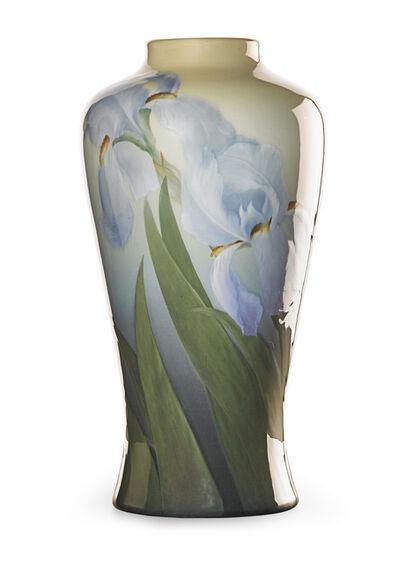 Carl Schmidt, 'Exceptional and large Iris Glaze vase with purple irises (uncrazed), Cincinnati, OH', 1904