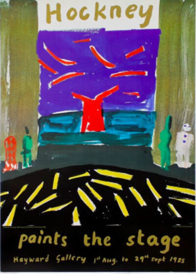 David Hockney, 'Hand Signed Hockney Paints the Stage', 1985