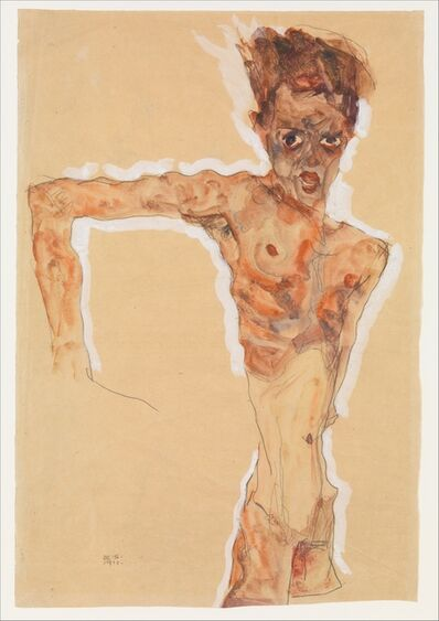Egon Schiele, 'Self-Portrait', 1911