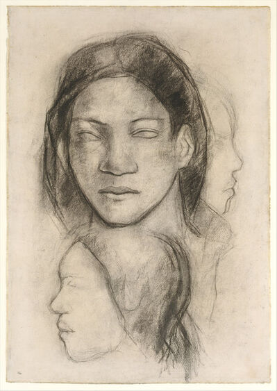 Paul Gauguin, 'Tahitian Faces (Frontal View and Profiles)', ca. 1899