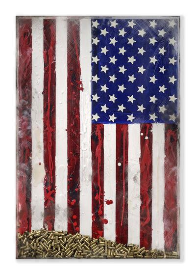 Jana Nicole, 'SPENT - Original, American Flag, Political Piece, Bullets, Spent shell casing', 2017