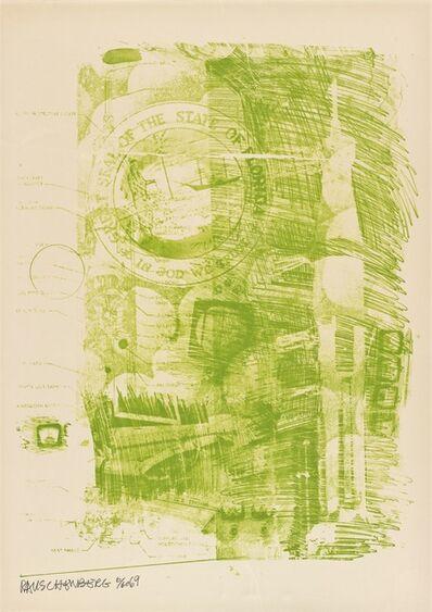 Robert Rauschenberg, 'Marsh (Stoned Moon)', 1969