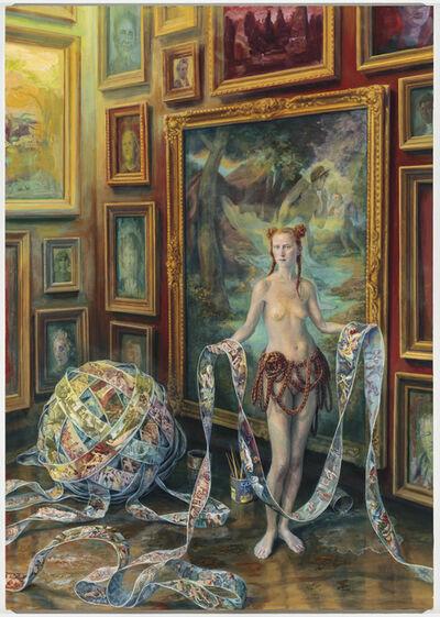 Julie Heffernan, 'Self-Portrait with Spill', 2018