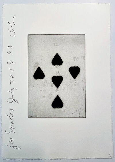 Donald Sultan, 'Playing Cards: Five of Spades', 1990