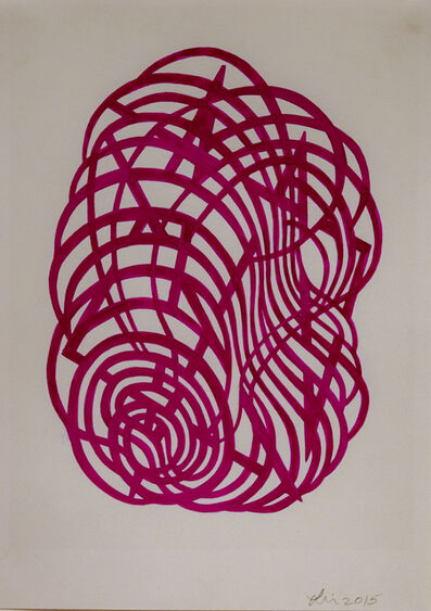Linda Fleming, 'Gouache Wall Drawing (magenta)', 2017
