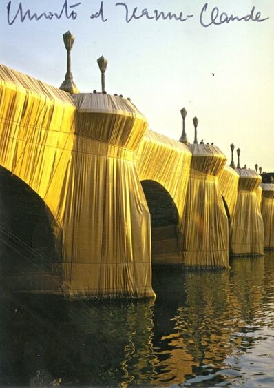Christo, 'The Pont Neuf Wrapped, Paris, France (Hand Signed) from the collection of Jeanne-Claude's assistant', 1985