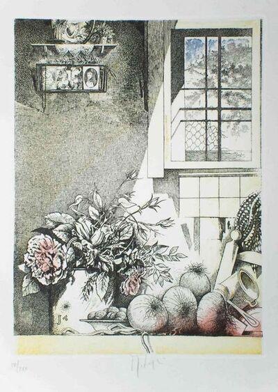 Mario Logli, 'Interno con Sacrocuore', 1986