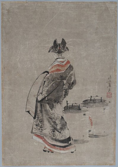 Katsushika Hokusai, 'Courtesan with Odawara Lanterns', 1799