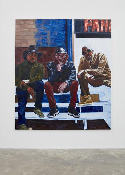 Jordan Casteel, 'Cowboy E, Sean Cross, and Og Jabar', 2017