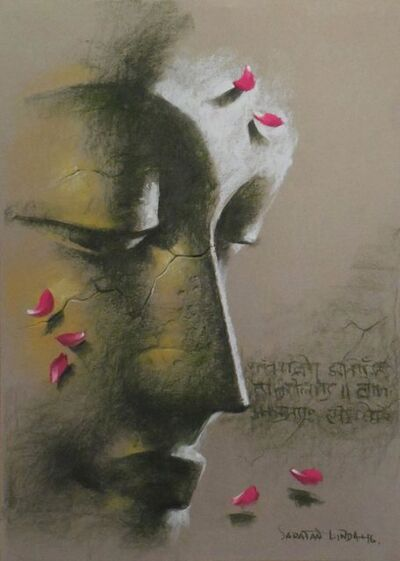 "Sanatan Dinda, 'Yugpurush, Pastel on Paper by Contemporary Artist ""In Stock""', 2016"