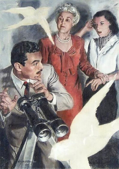 Robert Douglas, 'Case of the Crying Swallows- Magazine Story Illustration', 1947