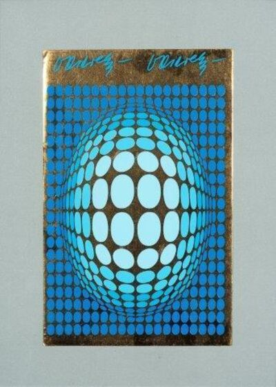 Victor Vasarely, 'Untitled (blue background)'