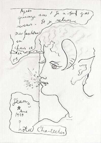 Jean Cocteau, 'Faun a la brindille', 1939