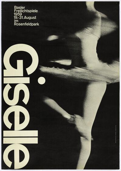 Armin Hofmann, 'Giselle Ballet, Basel poster', 1959